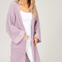 Lilac Open Pocket Sweater