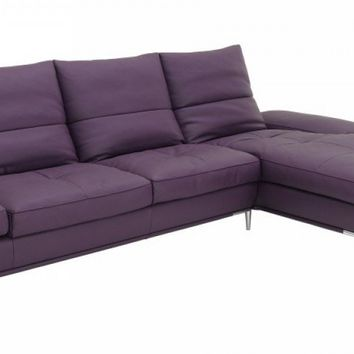 Modern Purple Sectional Sofa Set
