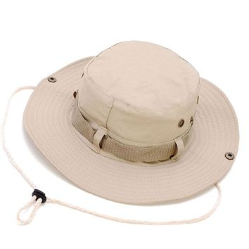 Women Men Unisex Adults Sun Protection Protect Dome Solid Bucket Hats Basic Hunting Fishing Camping Outdoor Caps Leisure Casual