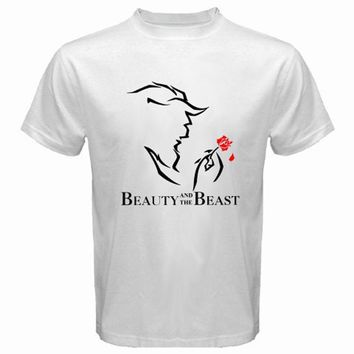 New Beauty and The Beast Broadway Show Men's White T-Shirt