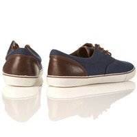 Wire Navy Canvas Plimsolls - Sale Shoes