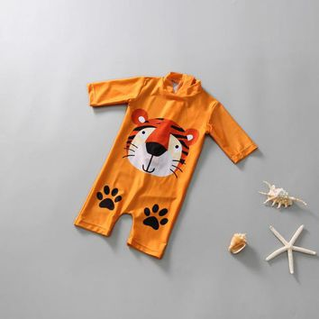 Children's Swimwear Baby Boy For Children Clothes Swimsuit Clothing Rash Guards Swimsuits Boys Sun Long Sleeve 1 3 Year Olds