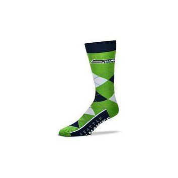 NFL Seattle Seahawks Argyle Unisex Crew Cut Socks - One Size Fits Most