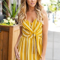 I Crave You Striped Dress (Mustard)