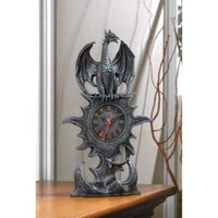 Mythical Winged Dragon Mantel Clock