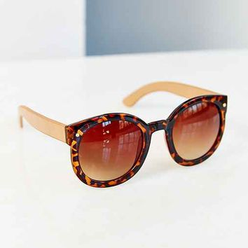 Emma Round Sunglasses- Brown One