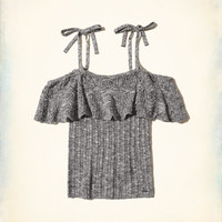 Girls Cold Shoulder Ruffle Sweater | Girls Tops | HollisterCo.com