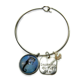 Sea Horse Charm Summer Bracelet, Nickle Free