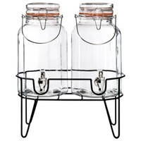 Del Sol Panel Double Beverage Dispensers with Stand