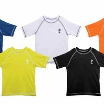 Toddler Boy's Rash Guards - Solid Colors - Sizes 2T-4T - CASE OF 36