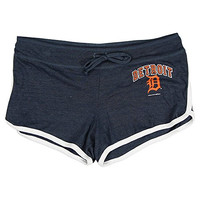 Women's MLB Team Logo Athletic Shorts (Detroit Tigers, X-Large)