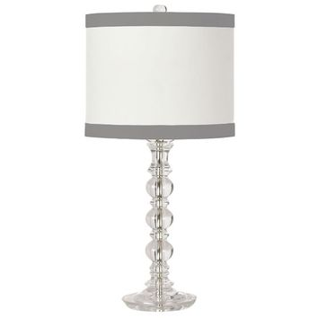 Ribbon Trim Shade With Delite Table Lamp Base