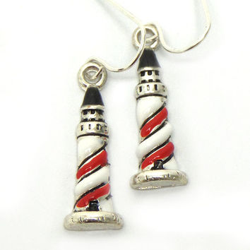 Light house fish hook earrings