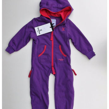 OnePiece Norwegian Norway Original Solid Kids Jumpsuit Purple NWT
