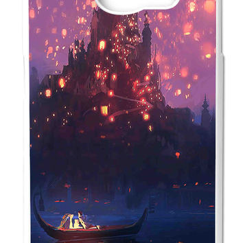 Tangled Romantic Night in Castle Samsung Galaxy S6 Cases - Hard Plastic, Rubber Case