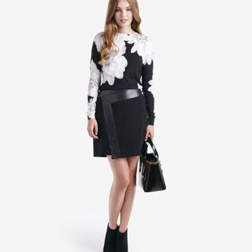 Monochrome Floral sweater - Black | Sweaters | Ted Baker