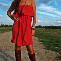 Rusty Ruffle Dress