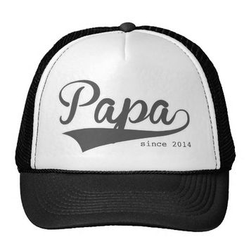 Papa Since Swash Typography Trucker Hat