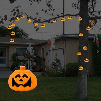 Halloween Pumpkin LED String Lights Halloween Pumpkin Lamp Corded-Electric String Lights With 20 LED, Perfect for Indoor,Festival,Party,etc