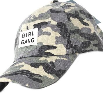 Camo Girl Gang Baseball Cap