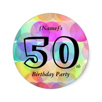 Bubbles - Birthday Party Round Sticker