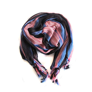 Longscarf, scarves, tassel, striped scarf, Women's Fashion Accessories, shawl,  women's accessories, christmas gift
