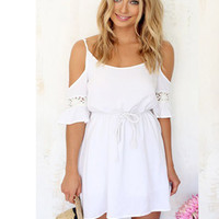 Chic Simplicity White Dress | The Handmade Hustle