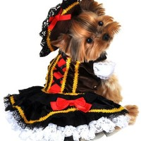 Anit Accessories Swashbuckler Pirate Girl Dog Costume, Small, 12-Inch