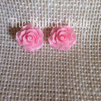 Rose To The Occasion Earrings (20mm Light Pink)