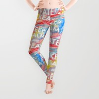 Watercolor Keep Calm and Create Leggings by MNA Art | Society6