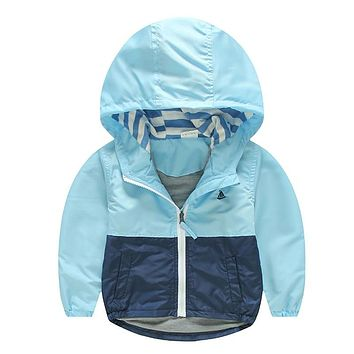 Kids Toddler Boy Jacket Coat Spring Autumn Hooded Windbreaker Outfits Children Outerwear Costume Baby Clothes Blazer Clothing