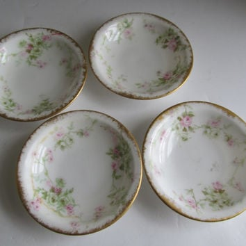 Limoges Set of 4 BUTTER PATS Limoges France Theodore Limoges Antique Butter Pat set of 4 Fine Dining Dishes Luxury Dishes