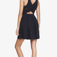 BLACK CRISSCROSS BACK SKATER DRESS from EXPRESS
