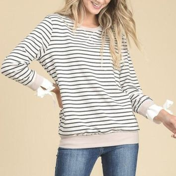 Andover Striped Knit Pullover