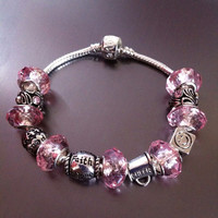 European Bracelet with Charms and Beads