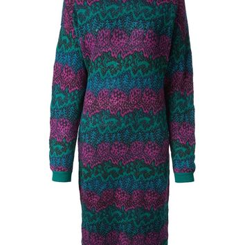 Missoni Vintage long patterned knit dress