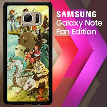 Studio Ghibli Characters Y0902 Samsung Galaxy Note FE Fan Edition Case