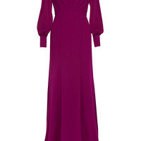 Gucci - Silk-georgette gown