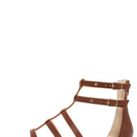 Seychelles Aim High Whiskey Leather Gladiator Sandals