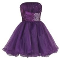 Faironly Purple Homecoming Mini Short Dresses (M)