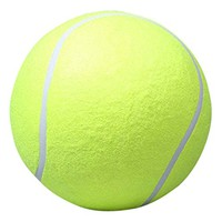 Pecute 9.5 Inch Tennis Ball Signature Signal Mega Jumbo Larger Pets Toys Dogs Outdoor Sports Cricket