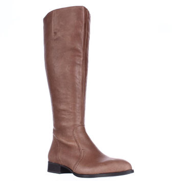 Nine West Nicolah Wide Calf Riding Boots, Cognac, 7 US