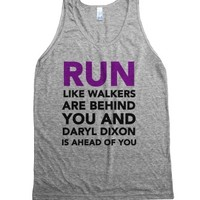 Walking Dead Runner-Unisex Athletic Grey Tank
