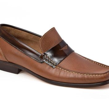 Bilbao Tan Leather Penny Loafer