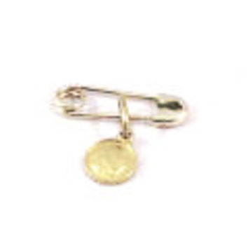 14 KT Diaper pin with Angel Optional