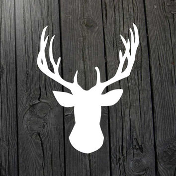 Deer decal Deer Sticker Deer wall art Hunting decal Hunting sticker  Deer nursery Deer baby Hunting nursery Deer car window Hunting decor
