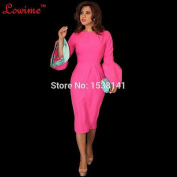 Abiye Red Flare Sleeves Cocktail Mermaid Ruched Imported Party Dress Middle-east Country Lady Dress Short Prom