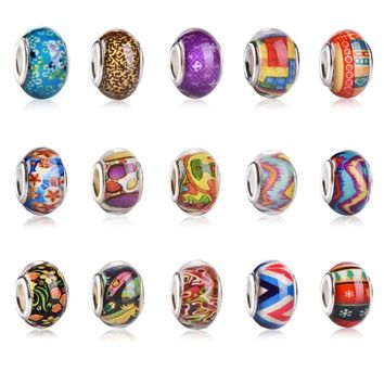 Charms For Bracelets Acrylic fit for European Pandora Bracelet Necklace Beads
