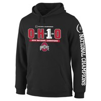 Ohio State Buckeyes Black 2014 College Football Playoff National Champions OH1O Pullover Hoodie