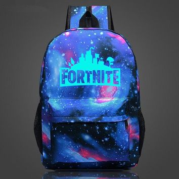 Student Backpack Children Fortnite Battle Royale Cool Night school bag noctilucous backpack student school bag Notebook backpack Daily backpack AT_49_3
